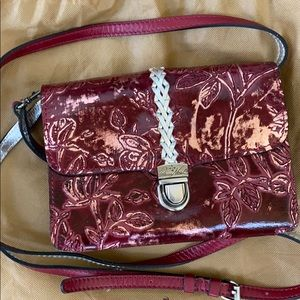 NWOT Patricia Nash Bellizzi Burgundy Crossbody